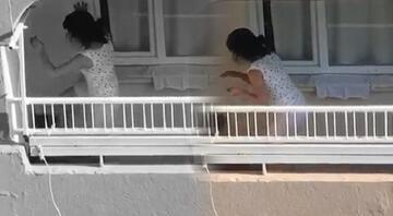 Adanada infial yaratan görüntüler Balkonda tekme ve yumrukla saldırdı