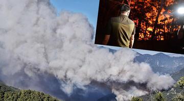 Mersin Aydıncıkta dün çıkan orman yangını sürüyor