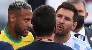 Brezilya - Arjantin maçında yaşanan kaos sonra Lionel Messiden tepki