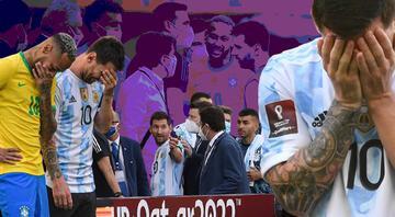 Brezilya - Arjantin maçında sınır dışı krizi yaşandı Olaylar sonrası maç askıya alındı