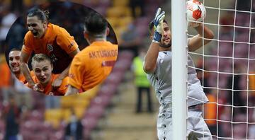 Son Dakika: Galatasaray - Lazio maçında Strakoshadan inanılmaz hata Ters gelen topu tutamadı ve...