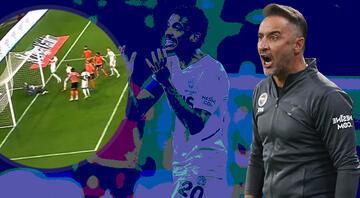 Maça damga vuran pozisyon Filip Novak golü kaçırdı, taraftar...