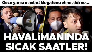 Trabzon dönüşü havalimanında sıcak saatler Megafonu eline aldı ve...