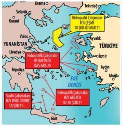 Yunanistan'a haritalı 'TCG Çeşme' yanıtı