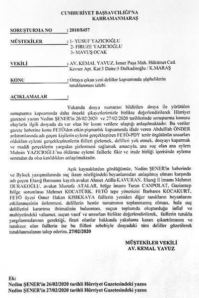 Yazıcıoğlu suikastında kirli manşetler