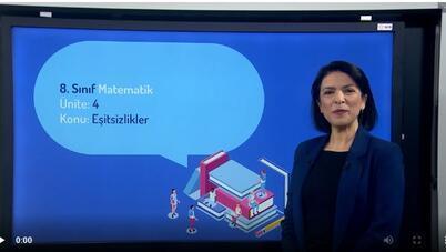 EBA TV'de yayınlanacak uzaktan eğitim videosu örneği