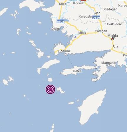 Son dakika haberi: Ege Denizi beşik gibi Muğla açıklarında peş peşe depremler