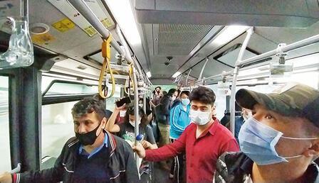 Yüzde 50 yasağı kalktı, toplu taşıtlar doldu taştı