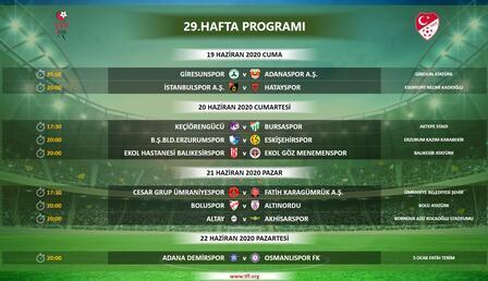 Son Dakika | TFF 1. Lig'de 29-32. hafta programları açıklandı!