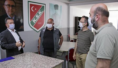 Karşıyaka'ya TFF tarafından koronavirüs önlem denetimi yapıldı!