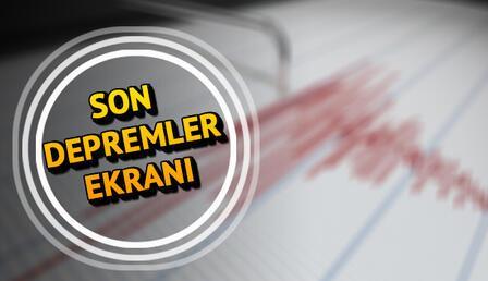 Son dakika deprem haberleri! Kandilli Son depremler listesi 3 Temmuz