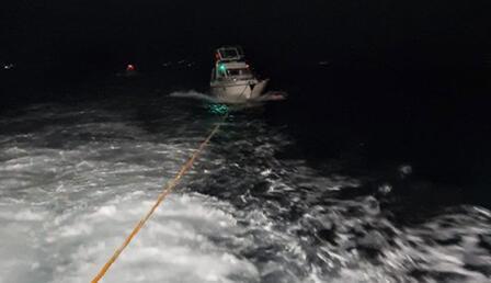 Sedef Adası açıklarında sürüklenen teknedeki 3 kişi kurtarıldı
