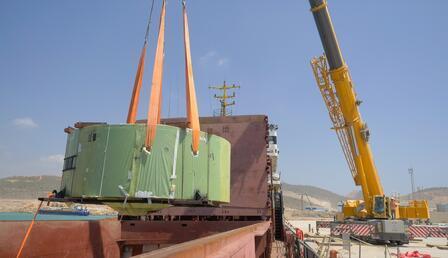 Akkuyu NGS'nin ikinci ünitesindeki kor tutucunun montajı yapıldı