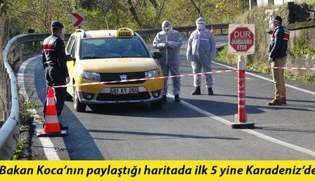 Karadeniz'de kırmızı alarm! 19 yerleşim yeri koronavirüs karantinasında
