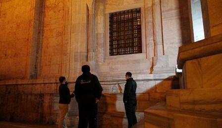Bursa'da Ulu Cami'ye balyozlu saldırı