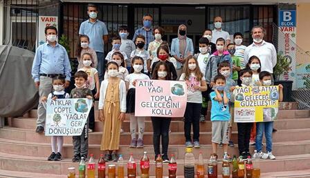 Çevreci öğrencilerin projesine destek