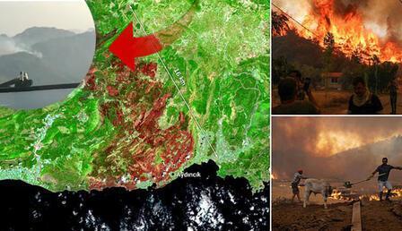 Havadan ilk görüntüler... İspanyol pilotlar az önce paylaştı