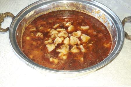 Mantı ailesinin lezzetli üyesi: Şişbörek çorbası (Ekşili mantı çorbası)