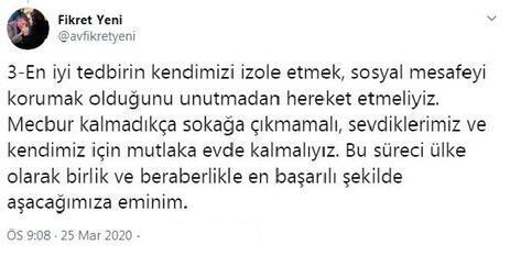 AK Partili isim koronavirüsü yendi, bu mesajı verdi