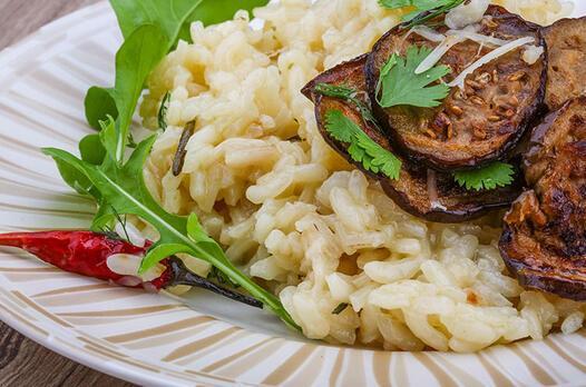 Patlıcanlı risotto tarifi