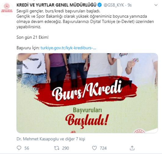 Kyk Burs Basvurulari E Devlet Uzerinden Basladi Kyk Burs