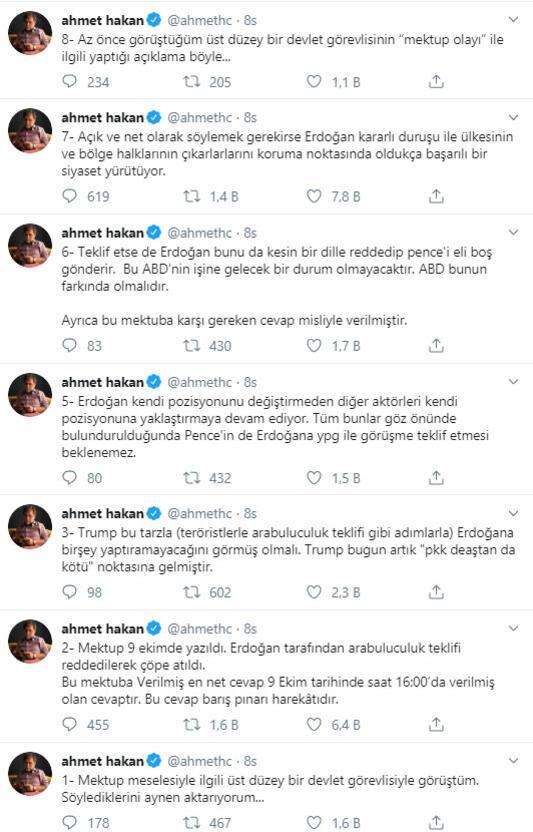 Türkiyeden ABD'ye mektup yanıtı: Teklif reddedildi, mektup çöpe atıldı…