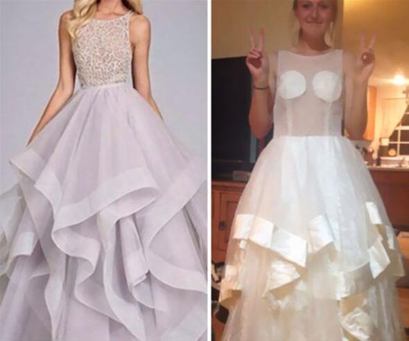 İnternetten aldı... Elbise geldiğinde gözlerine inanamadı