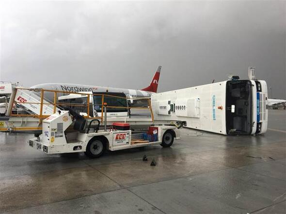 Antalyada hortum ve fırtına