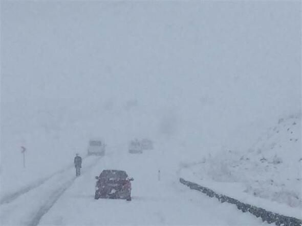 Ardahanda yoğun kar yağışı ve tipi