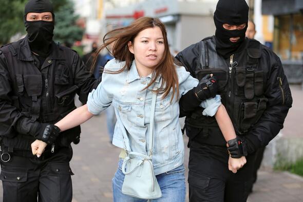 Kazakistanda seçim protestoları
