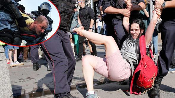 Moskova karıştı Seçim protestosunda 300 gözaltı