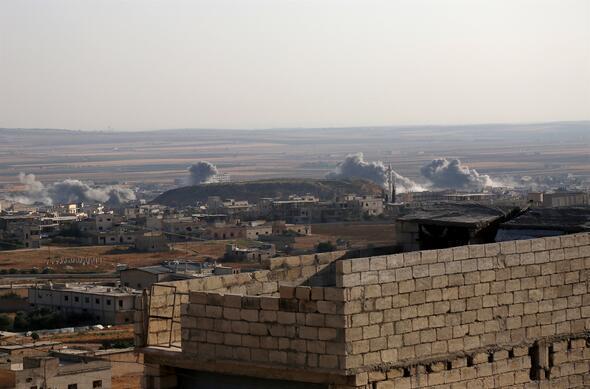 İdlibe yoğun hava saldırıları sürüyor