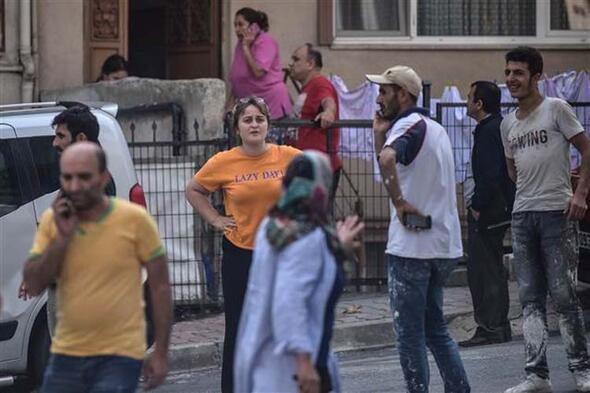 Son dakika: İstanbuldaki deprem sonrası ilk görüntüler