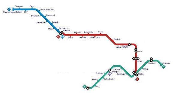 Ankara Haberleri Ankara Metrosu 33 Duraga Ulasti Yerel