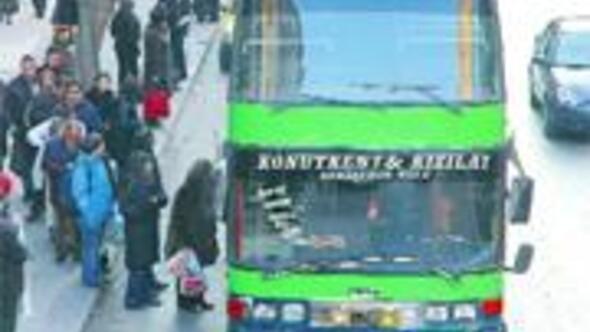 Çayyolu Ümitköy'ün katlı otobüs çilesi
