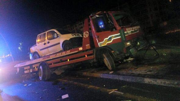 Üç araçlı garip kaza