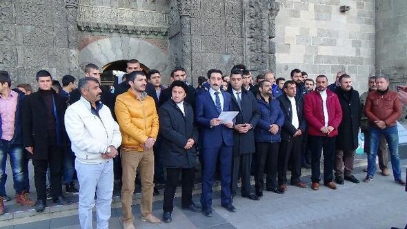 Erzurum Ülkü Ocakları İran Devlet Televizyonunu Protesto Etti