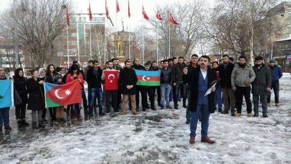 Ardahan'lı Ülkücülerden İran Protestosu