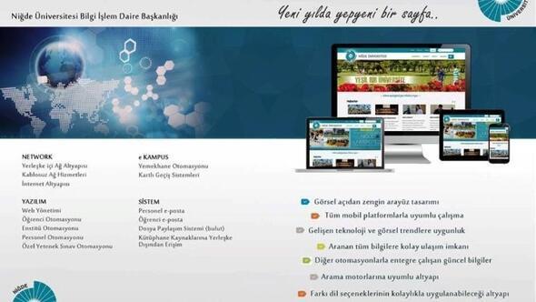Nigde Universitesi Web Sayfasini Yeniledi