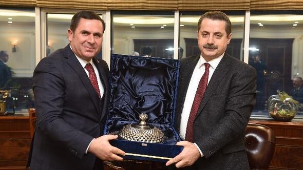 Tiryakioğlu, Bakan Çelik'le Görüştü