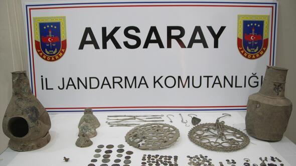 Aksarayda tarihi eser operasyonu