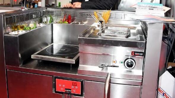Fuarın gözdesi davlumbamsız pişirme sistemi oldu