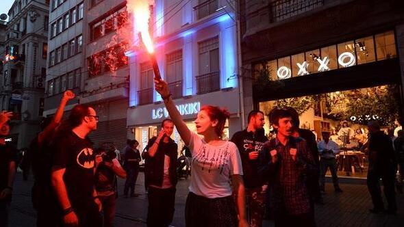 Gezi olaylarının 3. yıldönümünde Taksimde eylem...