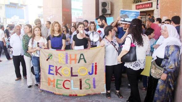 Lice ve Cudideki orman yangını Şanlıurfada protesto edildi