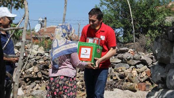 Manisada 380 koli gıda yardımı ihtiyaç sahiplerine ulaştı