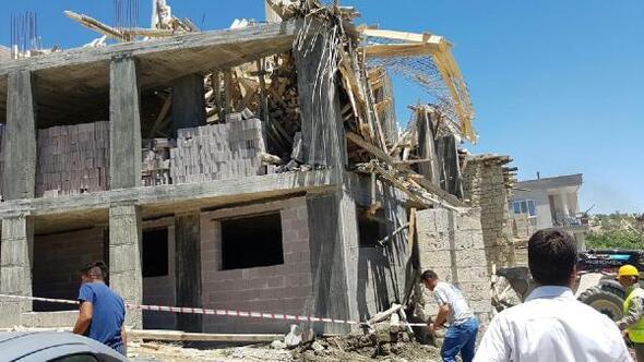 Cami inşaatının iskelesi çöktü: 1 ölü, 1 yaralı