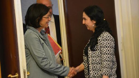 Figen Yüksekdağ, Avrupa Güvenlik İşbirliği Teşkilatı Parlamenter Asamblesi Başkanı ile görüştü