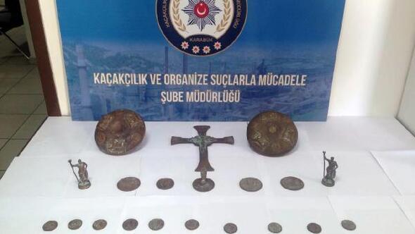 Karabükte tarihi eser operasyonu