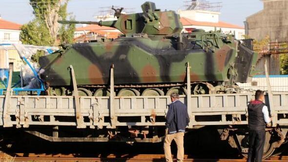 Etimesguttaki zırhlı birlikler Burdura gelmeye başladı