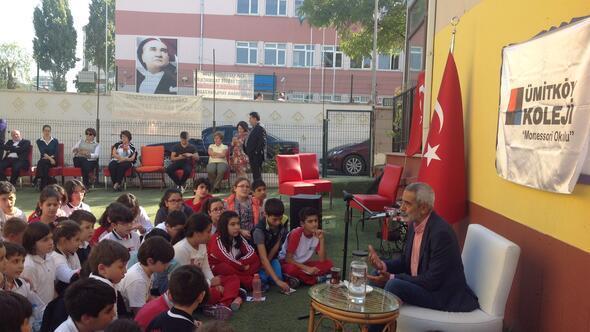Turgay Tanülküöğrencilerle buluştu
